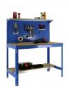 Banco De Trabajo Bt3 1500 Azul/madera 1445x1510x610mm