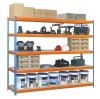 Estanteria Media Carga Simonforte 1804-5 Con Aglomerado Azul/naranja/mader 2000x1800x450 Mm