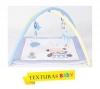 Texturas Baby - Gimnasio De Actividades Para Bebé 70x70 Cm Celeste