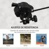 Rodillo Entrenamiento Bicicleta Homcom Acero 54,5x42,2x39,1cm Negro