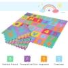 Alfombra Puzzle Para Niños Letras Y Números 36 Piezas Multicolor Homcom.