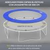 Cubierta Proteccion Borde Cama Elastica Homcom Pvc Pe Ø366cm,azul