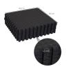 Homcom Alfombra Tipo Estera Protectora - Color Negro - Material De Espuma Eva - Dimensiones 2.16 M2
