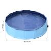 Piscina Rígida Tipo Bañera Plegable Para Perros Gatos Mascotas Animales De Pvc Pet Tablones Φ120x30 Cm - Pawhut. Azul.