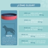 Piscina Para Perros Plegable De Pvc Pet Tablones Φ160x 30cm - Pawhut. Rojo Y Azul Oscuro.