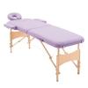 Camilla De Masaje Para Fisioterapia Homcom 182x60x61-87cm-morado