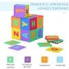 Homcom Alfombra Puzzle Letras Abecedario A-z Para Niños - Goma Eva 2,41 M2 - Colores Variados