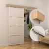 Kit De Instalación Con Riel Y Guía Para Puerta Corredera - Aluminio Y Madera - 200x3,05x3,06cm
