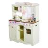 Homcom Cocina De Juguete De Madera Grande Y De Lujo Juego De Imitación Con Accesorios - Color Crema - 70x30x90cm