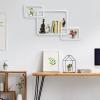 Homcom Juego De 3 Cubos Estantes De Pared Estantería Para Libro Cds Baldas Flotantes Decorativo Blanco - 38x30x12cm