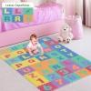 Homcom® Alfombra Puzzle Para Niños 3.6㎡ Letras Abecedario Y Números 0-9
