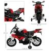 Homcom Moto Bmw Correpasillos A Batería Niños Mayores De 3 Años Moto Eléctrica Infantil 12v Con Luces Y Sonidos Ruedas Seguras 110x47x69cm Pp