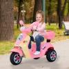 Homcom® Coche Triciclo Moto Eléctrica Infantil Correpasillos A Batería Niños Mayores De 3 Años 108x51x75cm Rosa