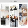Mesa Plegable Con Ruedas Para Comedor Homcom 120x80x73cm-blanco
