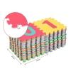 Alfombra Puzzle Juego Rompecabezas Para Niños Multicolor Homcom.