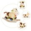 Homcom® Caballito Balancín De Peluche Balancín Caballo Para Niños +3 Años 60x34x46cm Forma Vaca