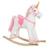 Homcom® Caballito Balancín De Peluche Balancín Caballo Para Niños +3 Años 78x28x68cm Forma Unicornio