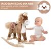 Homcom® Caballito Balancín De Peluche Balancín Caballo Para Niños +3 Años 74x33x62cm