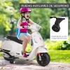 Homcom® Moto Eléctrica Infantil Coche Triciclo Para Niños Mayores De 3 Años Carga 25kg Blanco