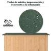 Outsunny® Caseta Exterior Armario Herramientas De Jardinería Doble Puertas 127.5x50x164cm