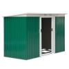 Outsunny® Caseta De Jardín Tipo Cobertizo Metálico Para Almacenamiento De Herramientas 277x130x173cm Acero Verde
