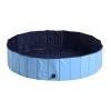 Bañera Para Perros Gatos Plegable Piscina Para Mascotas Natación Baño Φ100x30cm - Pawhut® . Azul.