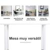 Homcom Comedor Mesa Mesa De Cocina Multifuncional Escritorio Mesa Auxiliar 120x60x76cm Madera