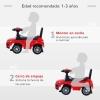 Homcom Quad Correpasillos Niño Coche Sin Pedales Para Bebé Juguete Andador Estilo Carrera Con Orador Rojo 60x38x42cm