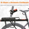 Portaequipaje Posterior Para Bici Homcom Aluminio 58x39x14,5 Cm Negro