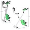 Homcom Bicicleta Estática Para Ejercicios Profesional Altura Ajustable 43x97x109 Cm Verde.