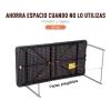 Outsunny Mesa De Camping Plegable Auxiliar Altura Ajustable 122x61x53/71.5 Cm Marrón Y Negro