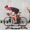 Homcom Rodillo De Entrenador De Bicicleta Plegable Ajustable 146x55x10,5cm Rojo Y Negro.