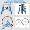 Rodillo Para Bicicleta Homcom Metal Pp Nylon 77x56x47,5cm Azul