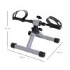 Mini Bicicleta Estática De Ejercicio Plegable Con Resistencia Ajustable Homcom Acero, 33x34x32 Cm, Plateado