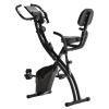 Bicicleta Estática Plegable Homcom Acero, Abs 51x97x115 Cm, Negro