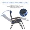 Tumbona Plegable De Poliéster Acero Pe 90x75x110 Cm-outsunny.azul
