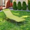 Tumbona Plegable De Metal, Textilene 182x56x24,5cm - Outsunny. Verde
