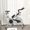 Bicicleta Estática Homcom De Acero Abs Pvc, 96x50x107 Cm, Plata