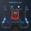 Bicicleta Estática Homcom Acero Abs, 85x46x114 Cm, Negro Y Rojo