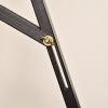 Caballete Pintura De Madera De Pino Homcom 51,5x71,5x134,5 Cm-negro