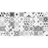 Flooralia - Alfombra Vinilica Extra Grande Patchwork, 295x195cm, Gris