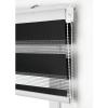 Homeflex - Estor Loom Noche- Dia, Negro, 180x180 Cm