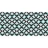Flooralia - Alfombra Vinilica Geometrica, 170x120cm, Blanco-azul-gris