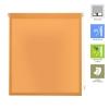 Estor Enrrollable Easy Fix Auris - Naranja - 140x180