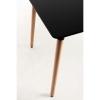 Muebles - Conjunto Mesa Tower Rectangular 120 X 80 Cm Negra Y Pack 4 Sillas Kelen - Azul Cielo