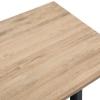 Mesa Thiner Beam 180x80cm 75cm Alto Estilo Industrial En Acero Y Madera Efecto Vintage - 80x180x75 Cm - Negro - 33 Mm - Efecto Vintage