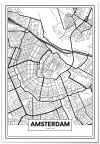 Panorama® Póster Mapa De Amsterdam 70 X 100 Cm | Láminas Decorativas Pared | Impreso En Póster De Alta Calidad De 250gr | Cuadros Decoración Salón | Cuadros Para Dormitorio | Lienzos Decorativos