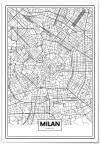 Panorama® Cartón Pluma  Mapa De Mián 70 X 100 Cm | Impreso En Cartón Pluma De Alta Calidad  | Cuadros Decoración Salón | Cuadros Para Dormitorio | Lienzos Decorativos