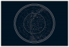 Panorama® Dibond De Aluminio Mapa De Estrellas 50 X 70 Cm| Impreso En Aluminio Dibond Blanco De Alta Calidad | Cuadros Paisajes | Cuadros Decoración Salón| Cuadros Dormitorio
