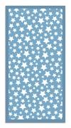 Panorama Alfombra Vinílica Estrellas Color Azul 60 X 110 Cm - Alfombra Cocina Vinilo - Alfombra Salón Antideslizante, Antihongos E Ignífuga - Alfombras Grandes - Alfombras Pvc
